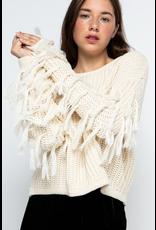 Tops 66 Fringe Fun Crop Sweater (5 Colors)
