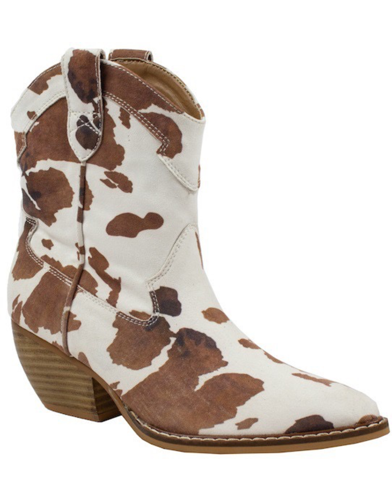 Shoes 54 Bet On It Brown Cow Print Boots