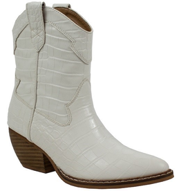 Shoes 54 White Western Croc Boots