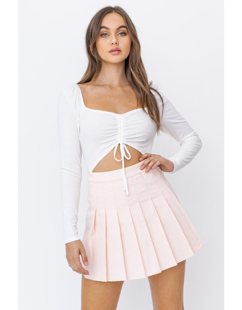 Tops 66 Open To It Ruched Bodysuit