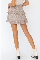Skirts 62 Wild One Leopard Ruffle Skirt