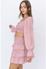 Tops 66 Pretty In Pink Pattern Smock Top