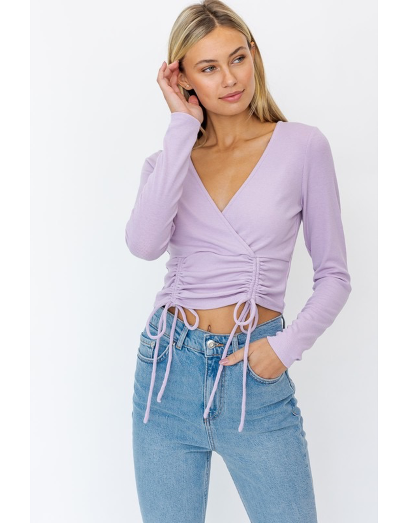 Tops 66 Girl On The Go Ruched Top