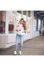 Tops 66 Be Mine Red Heart Sweater