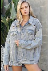 Outerwear Live Life Stud Denim Jacket