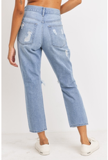 Pants 46 Super Destroyed Girlfriend Denim (Two Washes)