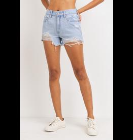Shorts 58 High Rise Destroyed Denim Shorts (Two Washes)