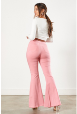 Pants 46 High Waisted Ripped Knee Pink Flares