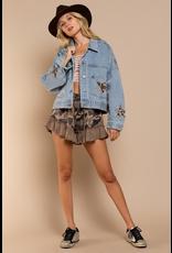 Outerwear Vintage Denim Leopard Star Jacket