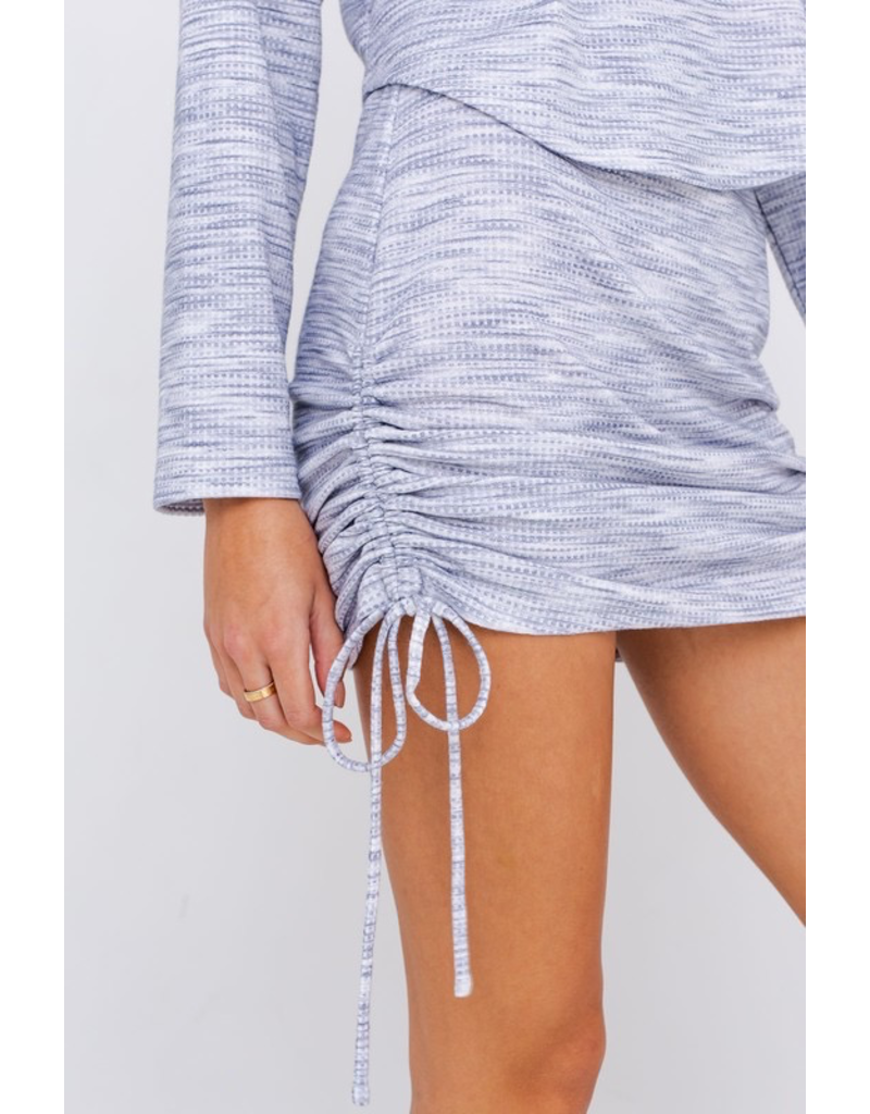 Skirts 62 Head In the Clouds Light Blue Ruched Skirt