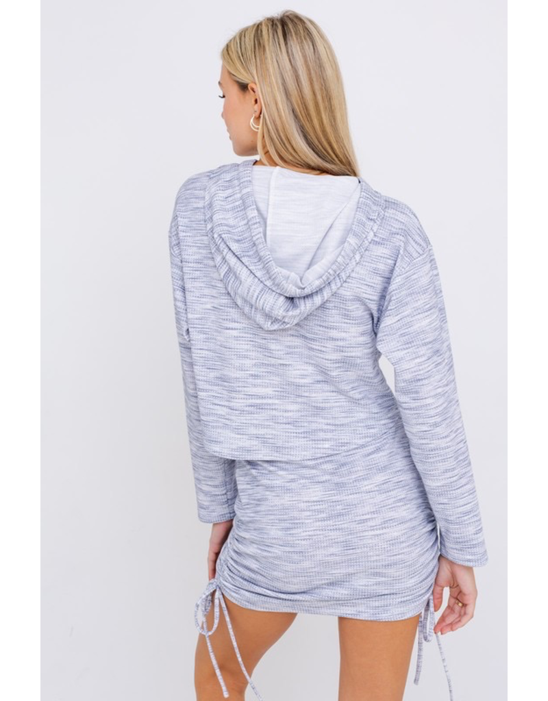 Tops 66 Head In The Clouds Light Blue Cropped Hoodie