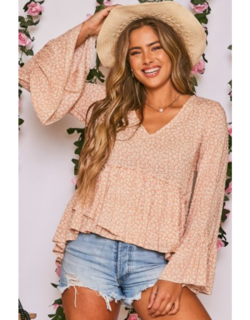 Tops 66 Just Peachy Floral Top