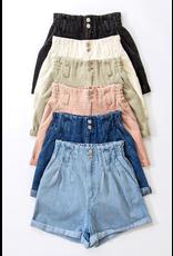 Shorts 58 High Waisted Rolled Up Denim Shorts