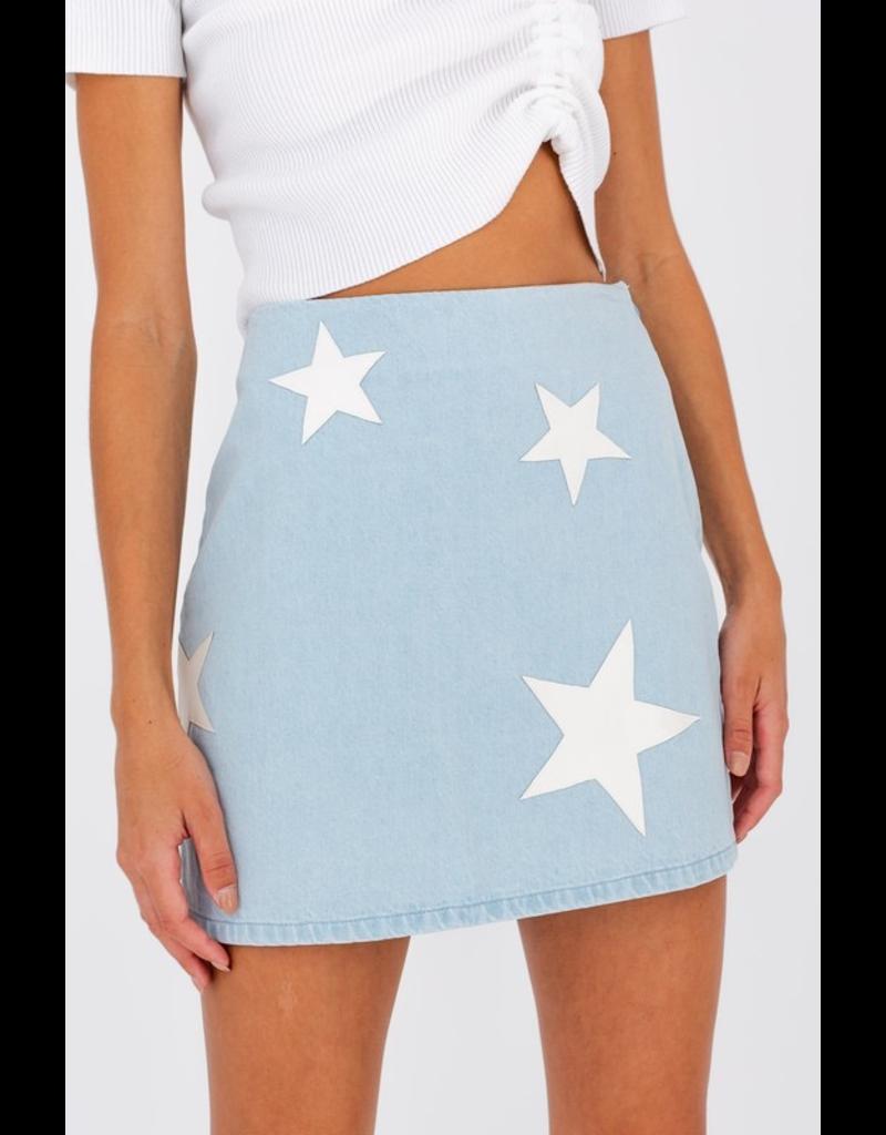 Skirts 62 Always a Star Light Wash Denim Skirt