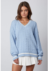 Tops 66 Blue Varsity Sweater