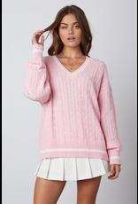 Tops 66 Pink Varsity Sweater