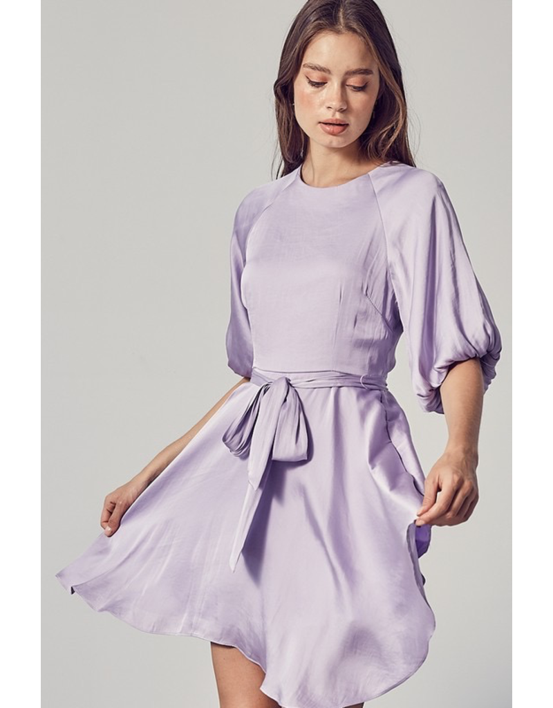 Dresses 22 Celebrate Satin Lavender Party Dress