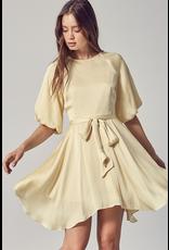 Dresses 22 Celebrate Satin Soft Yellow Party Dress