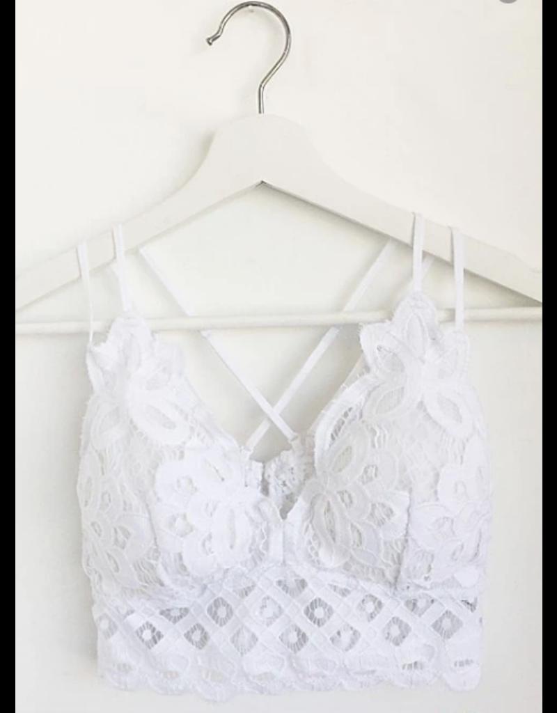 Tops 66 White Lace Bralette