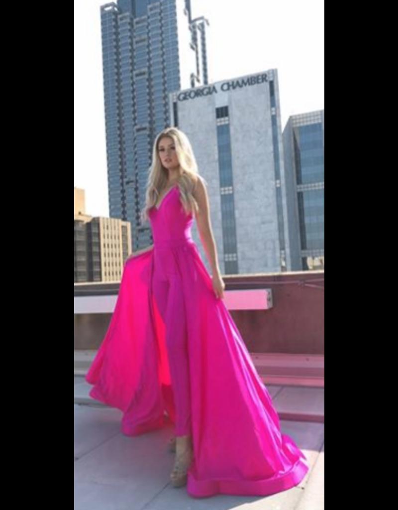 Jumpsuit Hot Pink Jumpsuit with Detachable Skirt