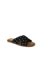 Shoes 54 Take On Summer Black Studded Slide