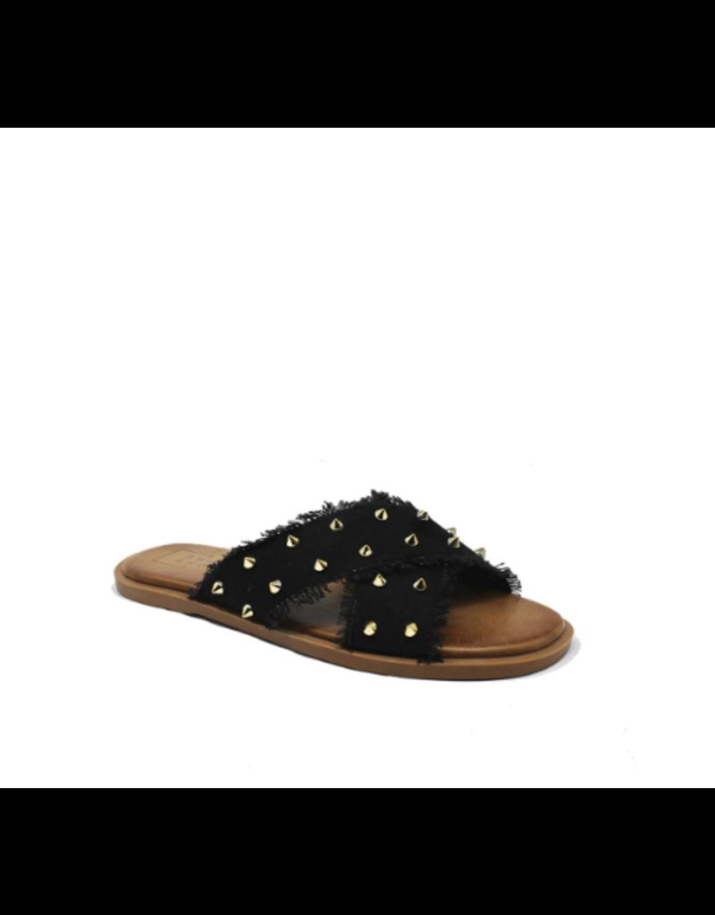 Shoes 54 Take On Summer Black Studded Slide
