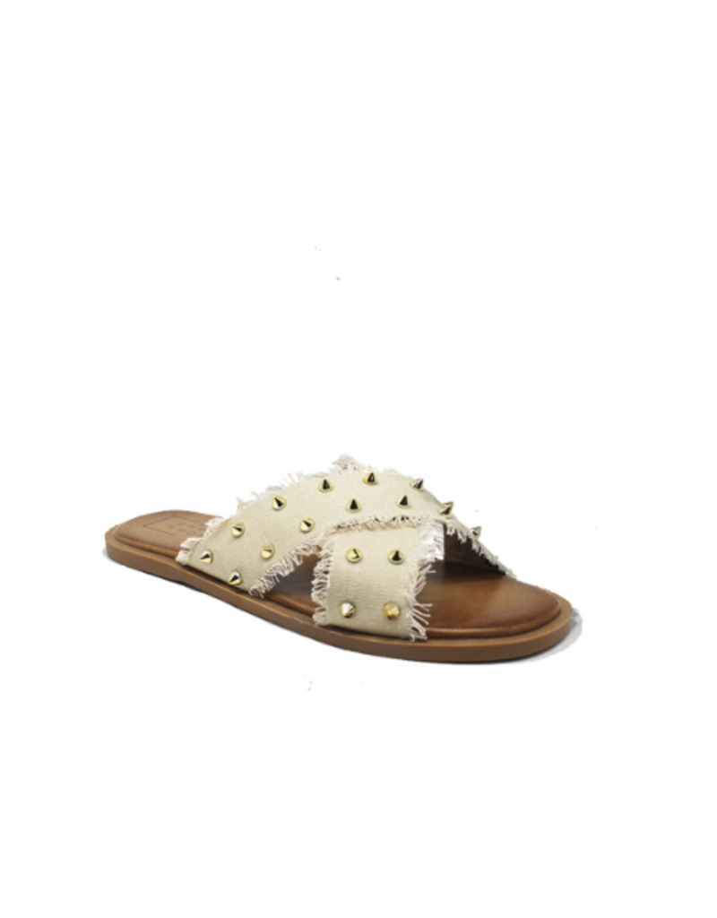 Shoes 54 Take On Summer Taupe Studded Slide