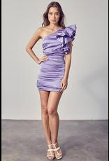 Dresses 22 Lots to Love Lavender One Shoulder Ruffle Dress