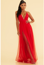 Formalwear Real Romance Red Tulle Dress