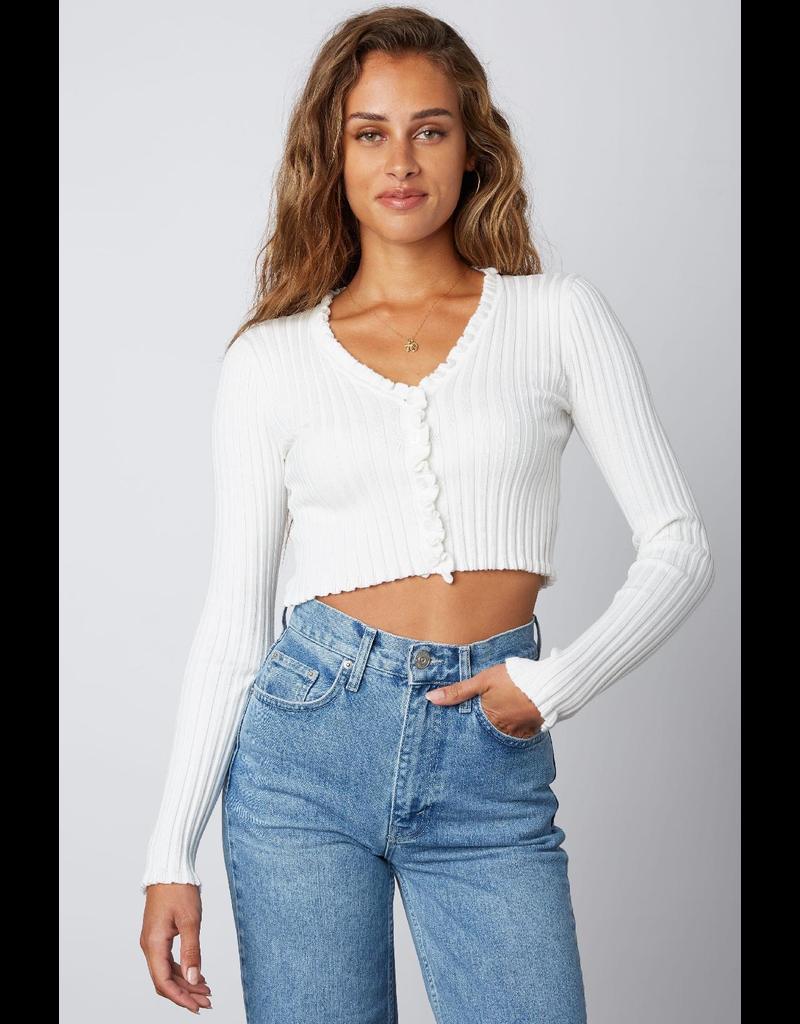 Tops 66 Easy Breezy White Sweater