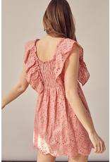 Rompers 48 All Eyes On Me Blush Eyelet Romper