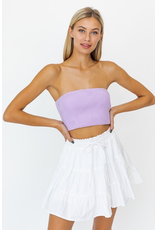 Tops 66 Lavender Love Strapless Top