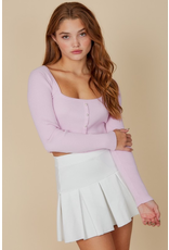 Tops 66 Pearl Button Sweater (Three Colors)