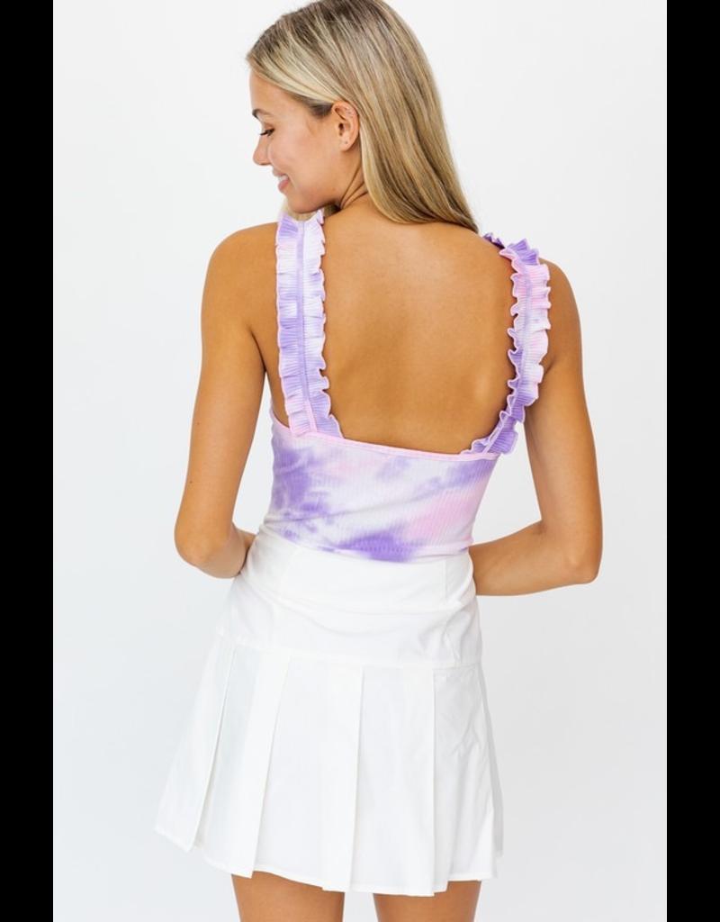 Tops 66 Brighten Up Tie Dye Ruffle Bodysuit