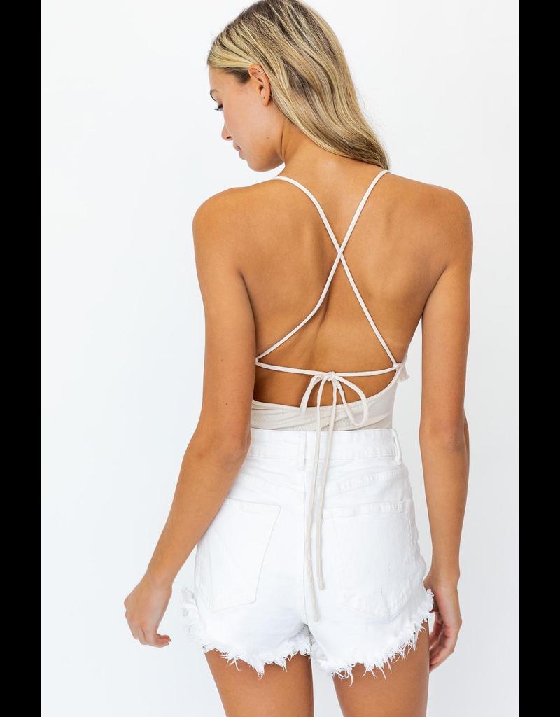 Tops 66 Better Days Open Back Bodysuit
