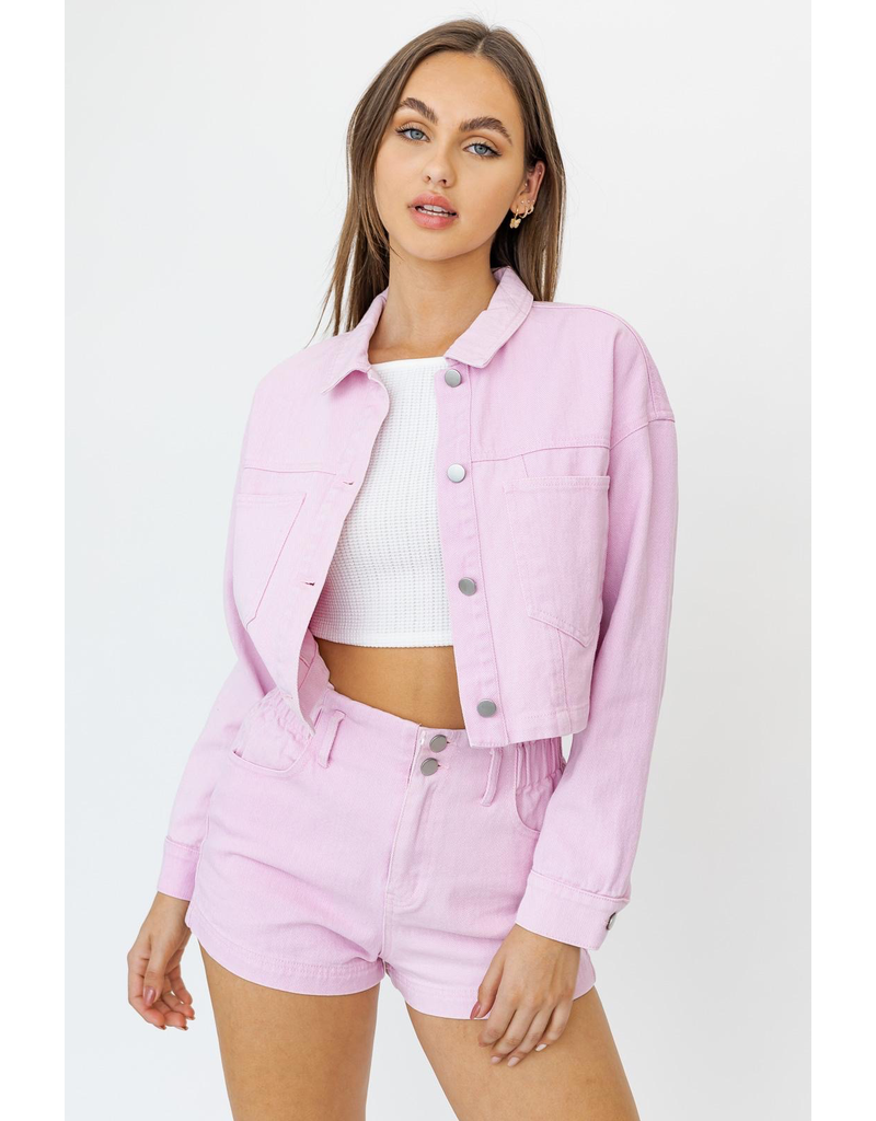 Outerwear Pastel and Pretty Pink Jacket