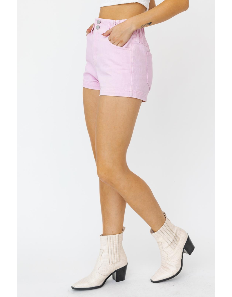 Shorts 58 Pastel Pink High Waisted Paperbag Shorts