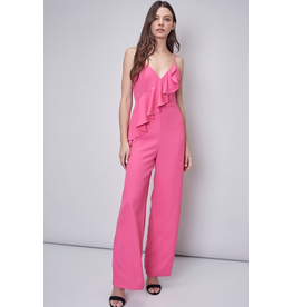 Jumpsuit Moments That Matter Hot Pink Ruffle Jumpsuit