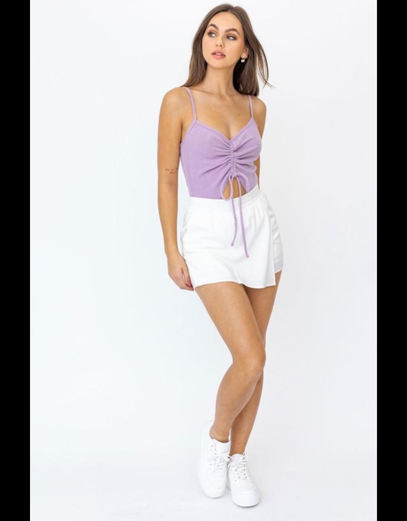 Tops 66 Open Topic Lavender Bodysuit