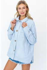 Tops 66 Check It Out Blue Button Front Shirt