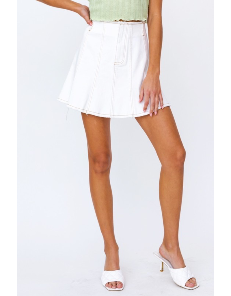 Skirts 62 Fun Flare White Denim Skirt
