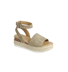 Shoes 54 Taupe Your Time Espadrille