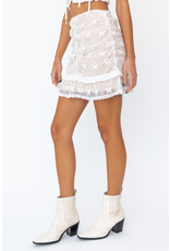 Skirts 62 Chasing Butterflies White Lace Skirt