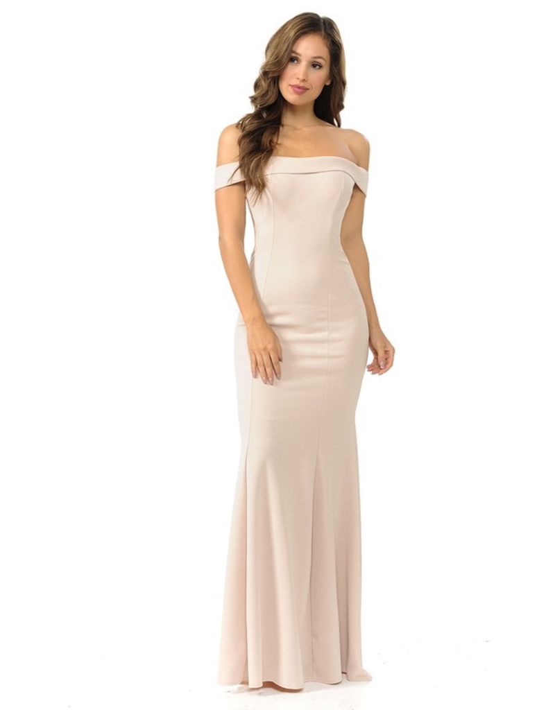Dresses 22 Formal Occassion Off Shoulder Dress (Available in 10 Colors)