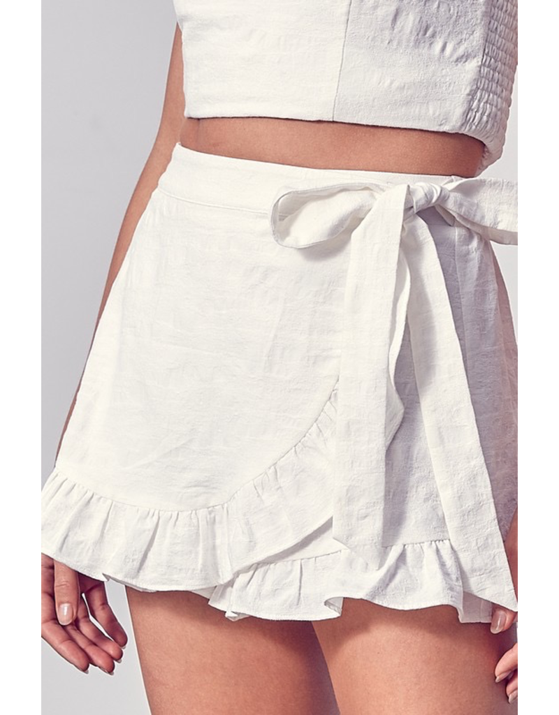 Skirts 62 All The White Reasons Wrap Skort