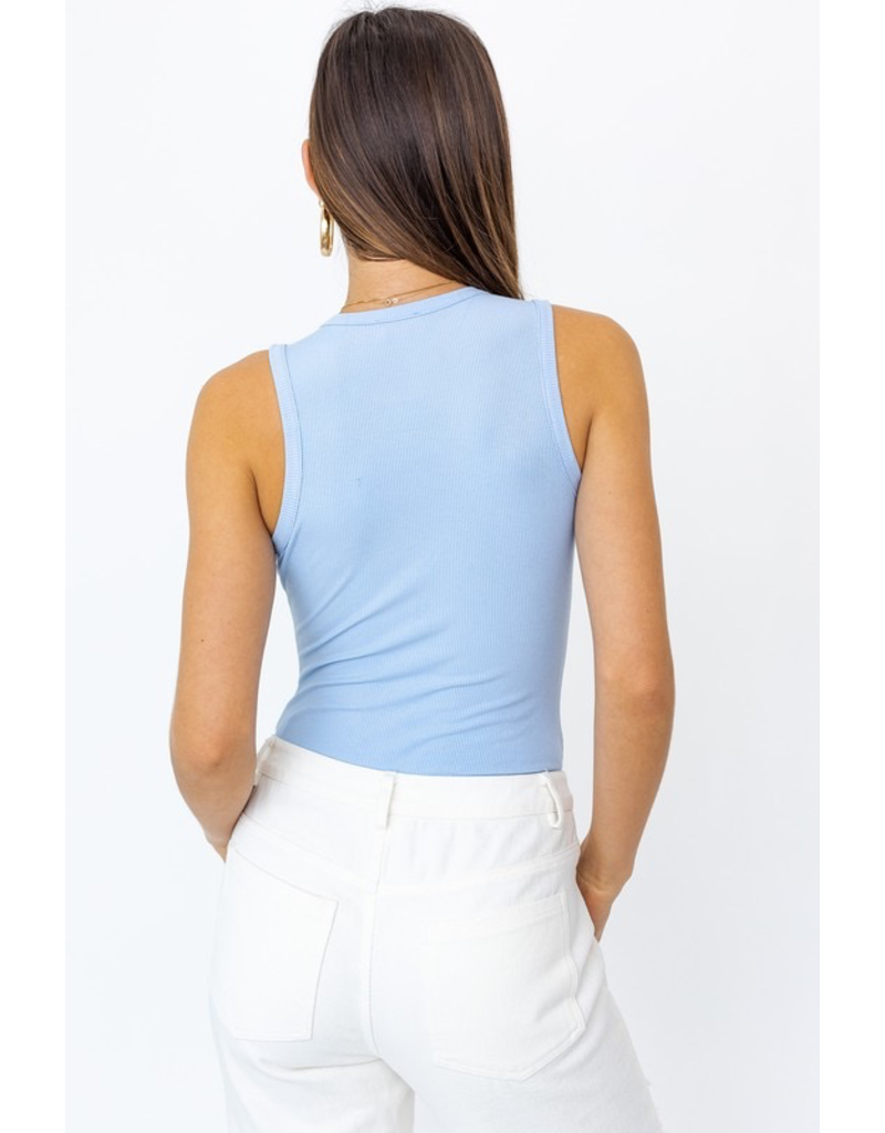 Tops 66 Basic Ribbed Bodysuit (Two Colors)