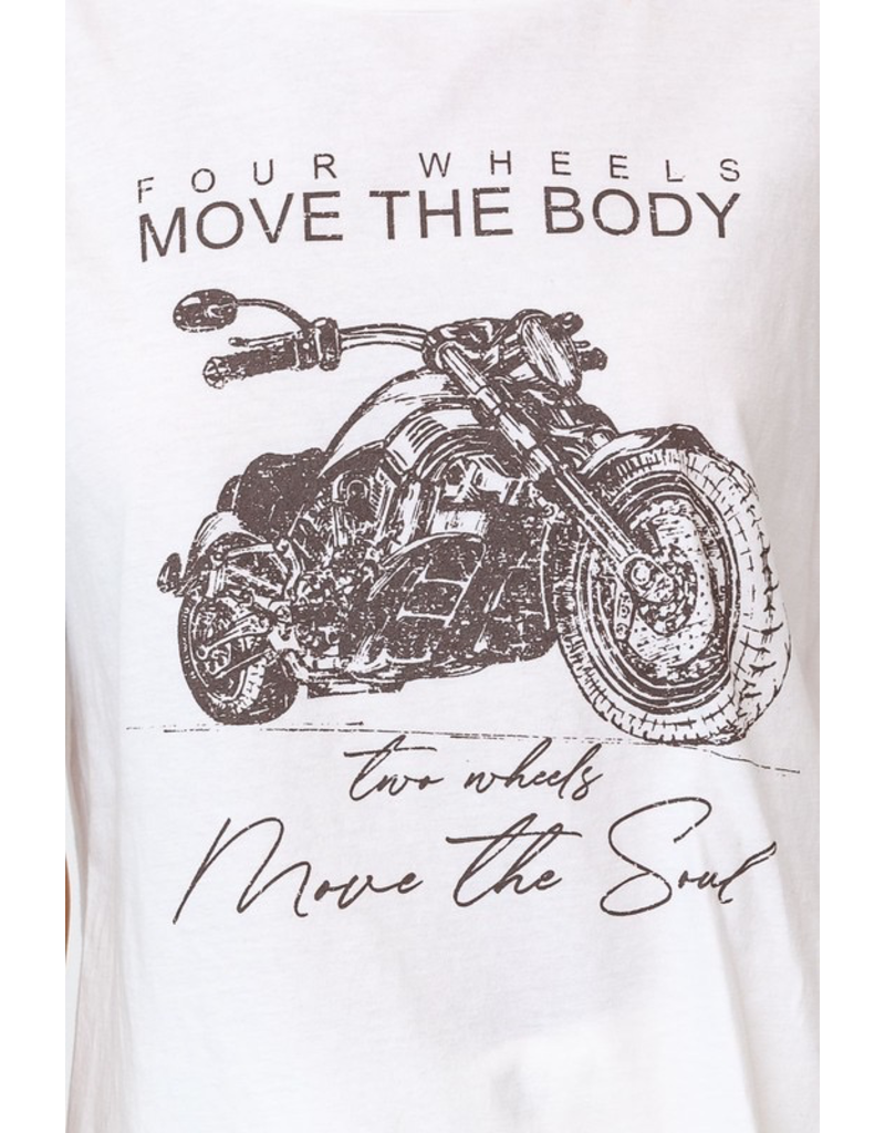Tops 66 Move the Body Tee W/ Side Slits
