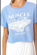 Tops 66 Muscle Blue Crop Tee