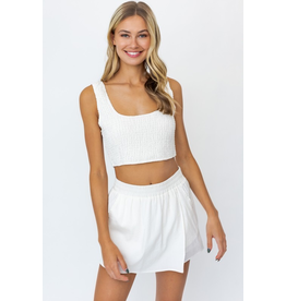 Skirts 62 Easy Breezy Summer White Skort