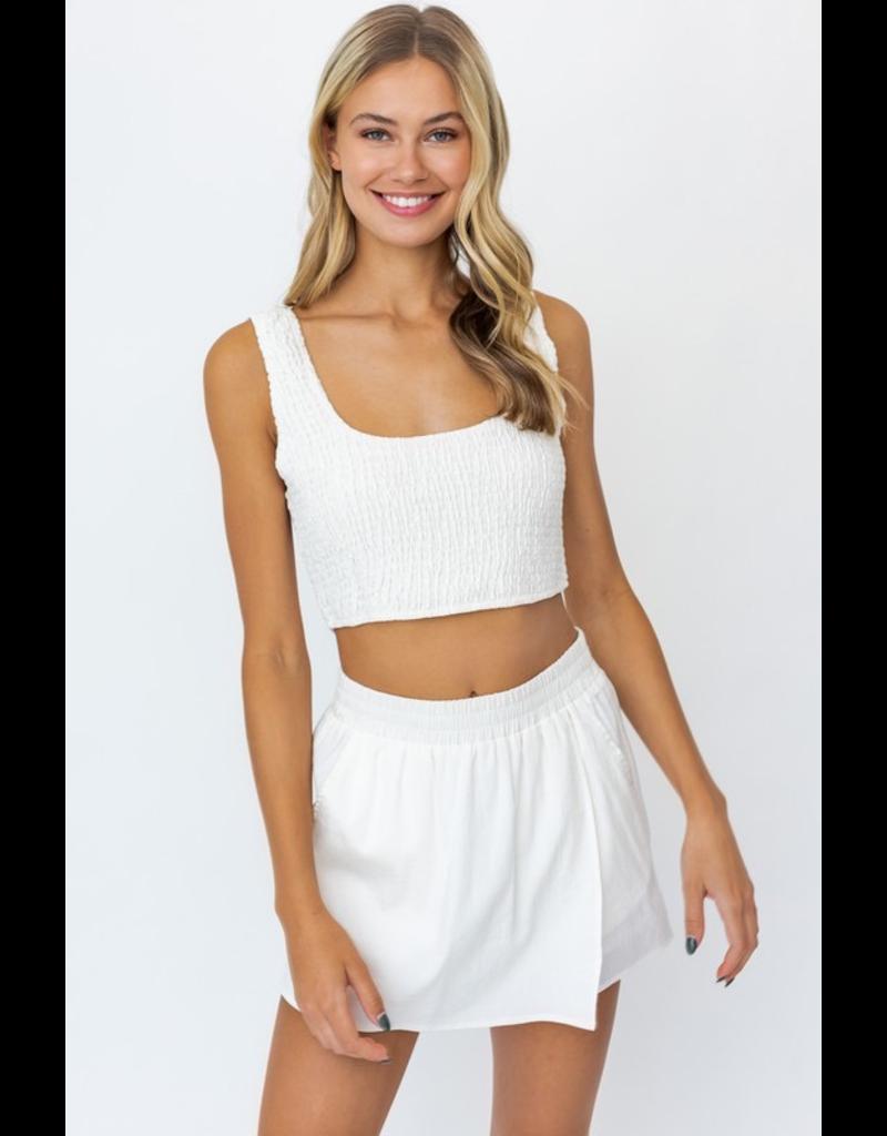 Skirts 62 Easy Breezy Summer White Skort